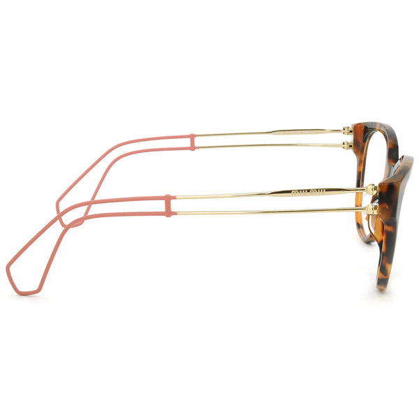 Miu Miu Cat Eye Women's Havana Eyeglasses - Right Side View