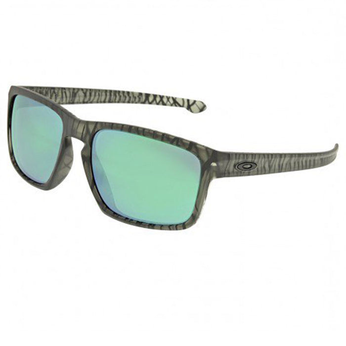 Oakley Unisex Silver Jungle Sunglasses Matte Olive Ink w/Jade Iridium Mirrored Lens  OO9269-08