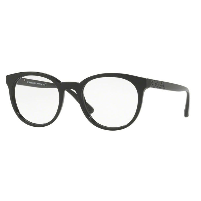 Burberry Rx Round Style Eyeglasses Black w/ Demo Lens Unisex BE2250F-3001