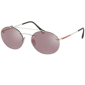 b749d72fb9 Prada Constellation Evolution Sunglasses Silver w Violet Mirrored Lens Men  SPS56TS 1BC214