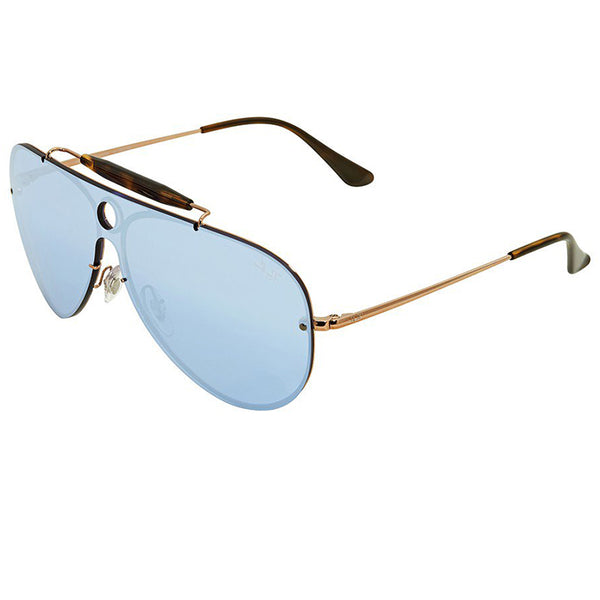 Ray-Ban Blaze Shooter Sunglasses Bronze/ Copper w/Violet Mirrored Lens Unisex