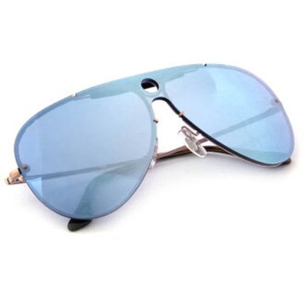 Ray-Ban Blaze Shooter Sunglasses Violet Mirrored Lens RB3581N 90351U