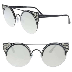New Authentic Bvlgari Women's Sunglasses W/Grey Silver Mirrored Lens BV6088-2396G-54
