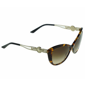 Versace Women's Cat Eye Sunglasses Brown Lens | Full Look