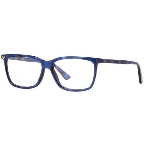 Gucci Rectangular Women's Eyeglasses Blue W/Demo Lens GG00940 005