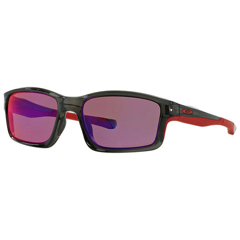 Oakley Chainlink Sunglasses Gray Smoke / Red Iridium Polarized Lens OO9247-10