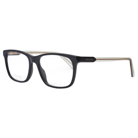Gucci Rectangular Men's Eyeglasses Black W/Demo Lens GG0490O 010