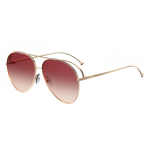 Fendi Women's Sunglasses Gold w/Pink Gradient Lens FF286/S 000-3X