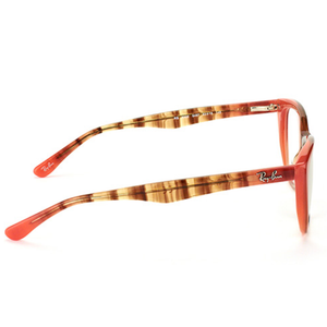 Ray-Ban Rx Eyeglasses Gradient Brown On Orange Color w/Demo Lens Women's RX5322 5487 51