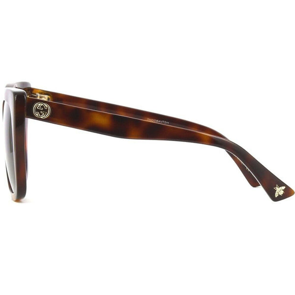 Gucci Women's Sunglasses Brown Lens GG0163S-002 - Side