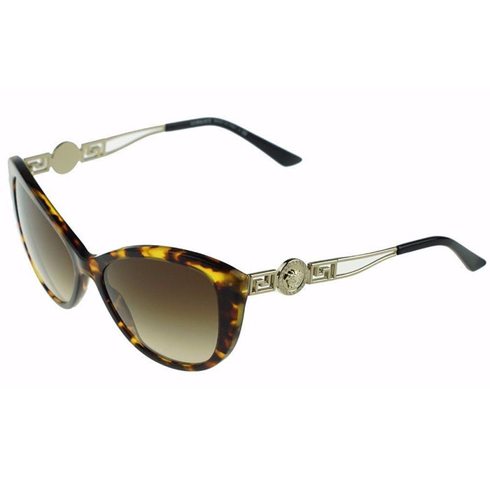 Versace Cat Eye Sunglasses Havana Women's VE4295 514813-57