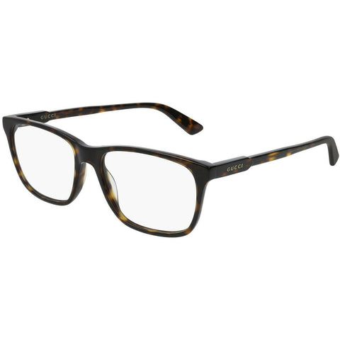 Gucci Rectangular Men's Eyeglasses Havana W/Demo Lens GG0490O 007