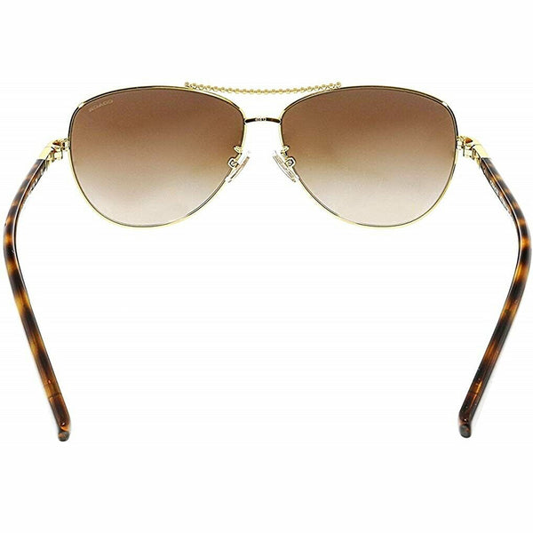 Coach Sunglasses Gold w/Brown Lens Women