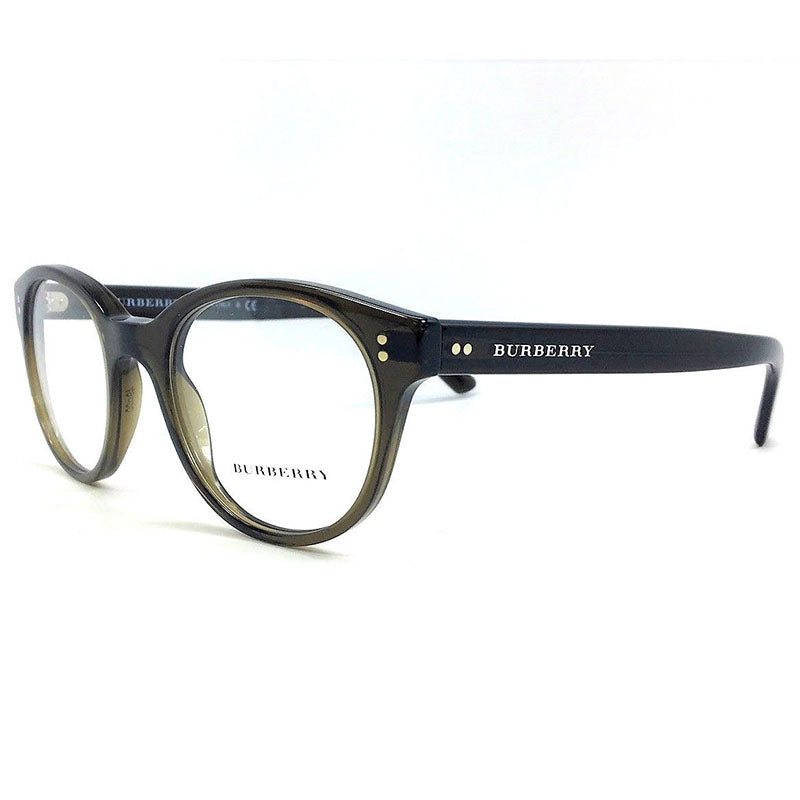 d406b58996 Burberry Rx Round Eyeglasses Olive Green w Demo Lens Unisex BE2194 3010