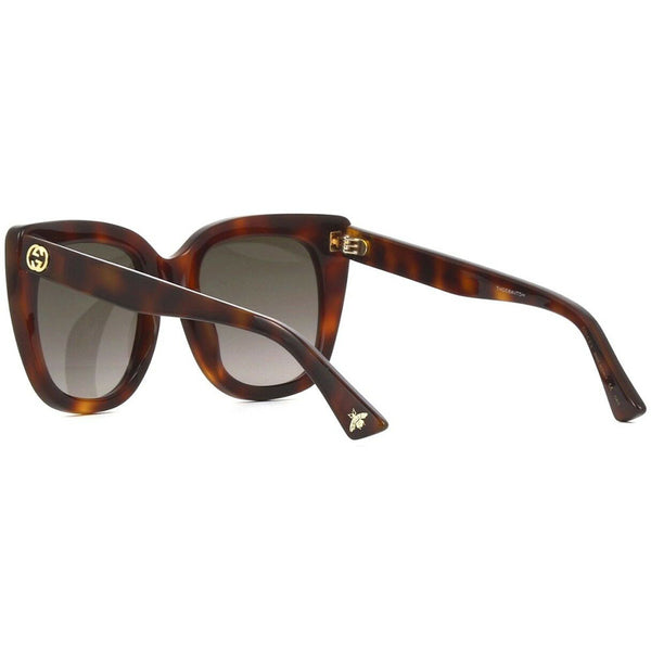 Gucci Women's Sunglasses Brown Lens GG0163S-002 - Back