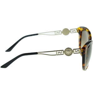 Versace Women's Cat Eye Sunglasses Brown Lens | Side Look