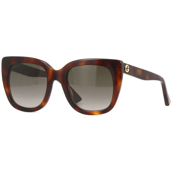 Gucci Cat Eye Women's Sunglasses Brown Lens GG0163S-002