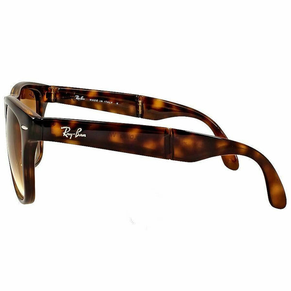 Ray-Ban Foldable Wayfarer Men's Sunglasses Tortoise W/Light Brown Gradient Lens RB4105 710/51