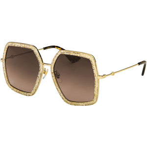 Gucci Women's Sunglasses W/Brown Gradient Lens GG0106S-005