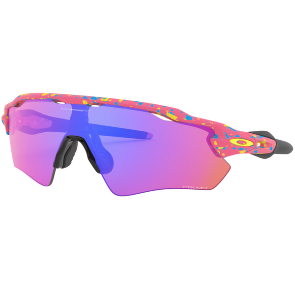 Oakley RADAR EV Path Women's Sunglasses Neon Pink Splatter w/Prizm Trail Lens OO9275 2235