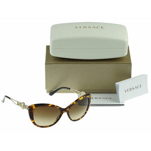 Versace Women's Cat Eye Sunglasses Brown Lens | Box