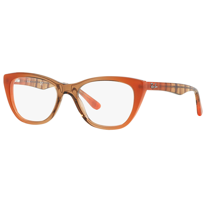 Ray-Ban Rx Eyeglasses Gradient Brown On Orange Color w/Demo Lens Women's RX5322