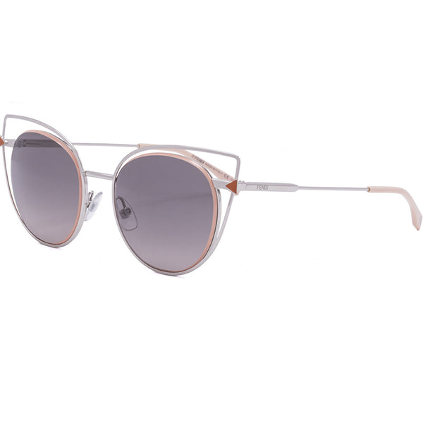 Fendi Sunglasses Palladium w/Grey Gradient Lens Women FF0176S-010-53