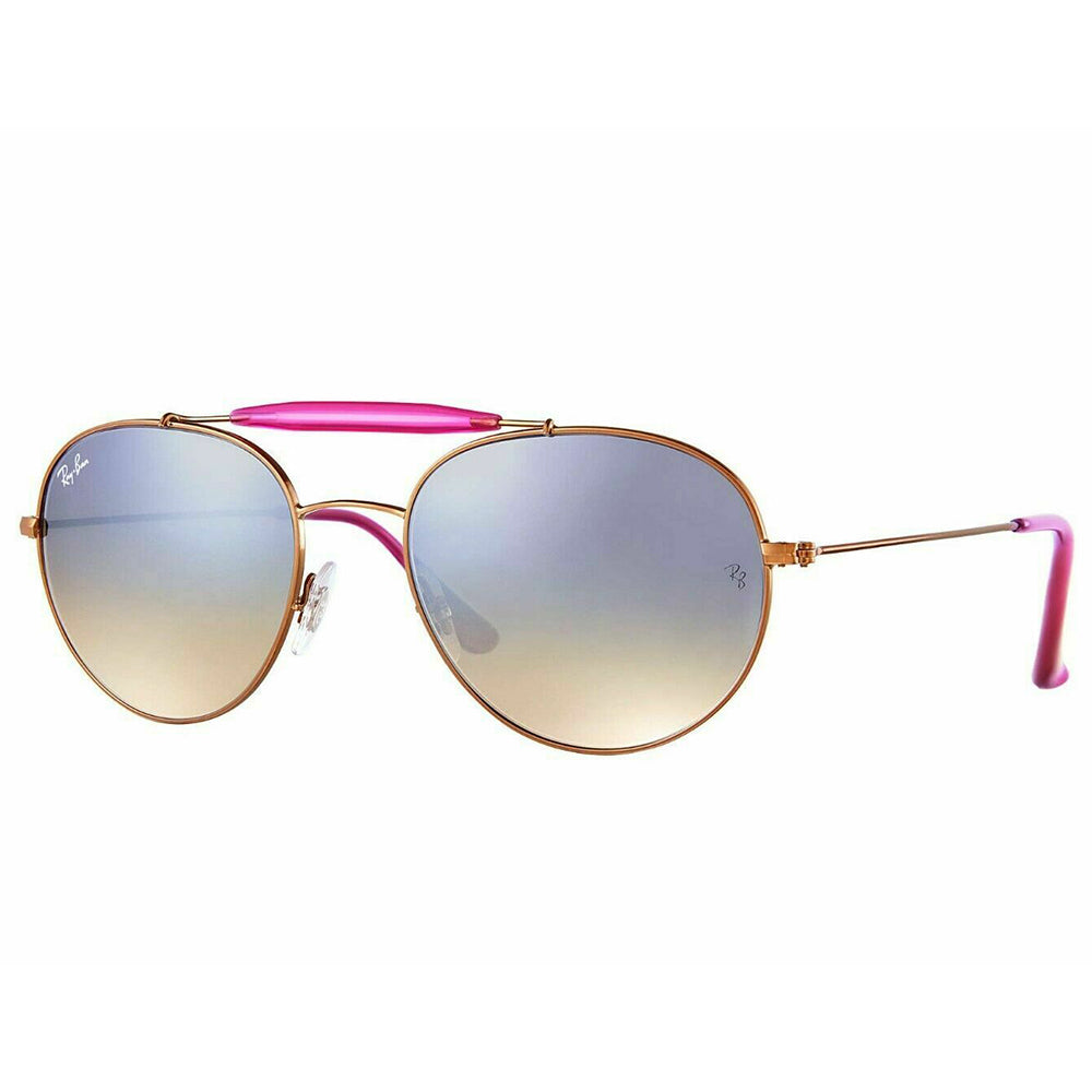 Ray Ban Aviator Style Unisex Sunglasses w/Crystal Silver Gradient Mirrored Lens RB3540 198/9U-56