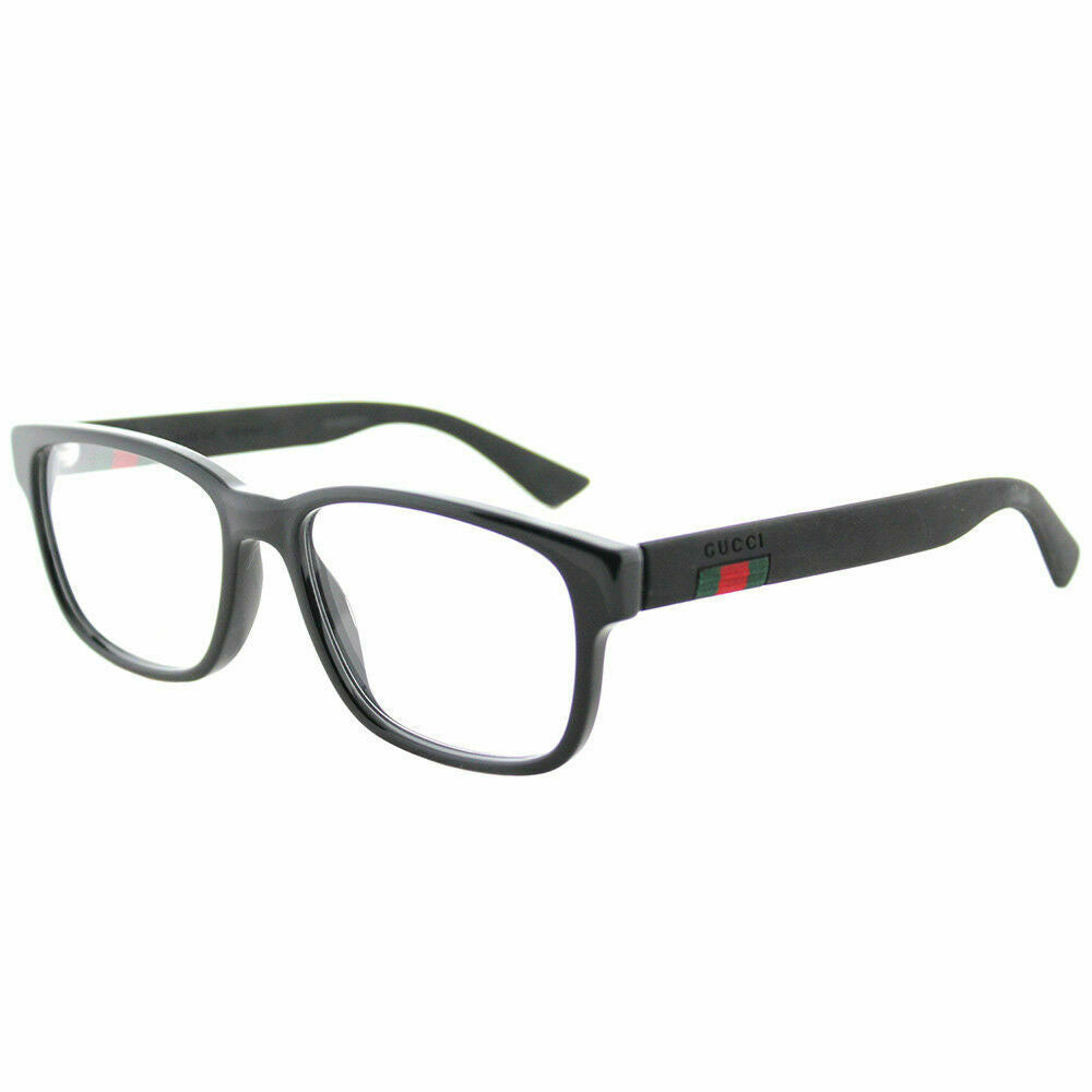Gucci Men's Eyeglasses Black W/Demo Lens GG0011O-001