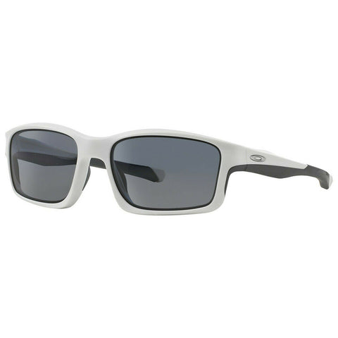 Oakley Chainlink Sunglasses Matte White / Grey Polarized Lens OO9247-07