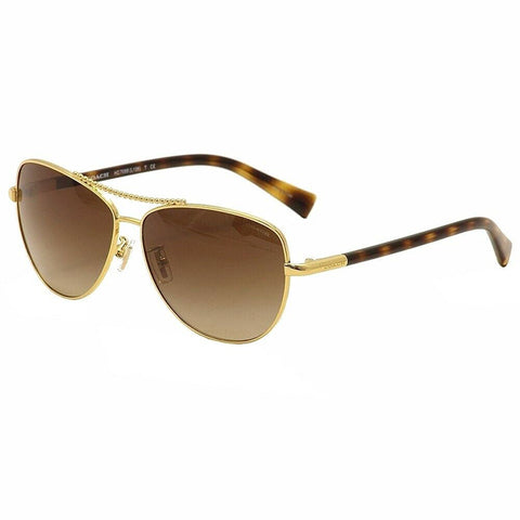 Coach Sunglasses Gold w/Brown Lens Women HC7058 923813