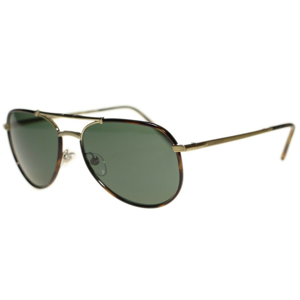 New Authentic Burberry Men's Sunglasses W/Green Lens BE3091J-11675U-58