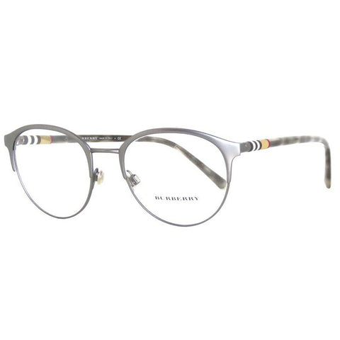 Burberry Round Men's Eyeglasses Matte Gunmetal Frame w/Demo Lens BE1318 1014