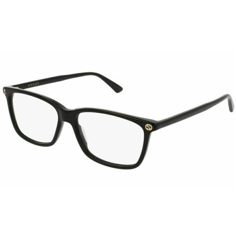 Gucci Rectangular Women's Eyeglasses Black W/Demo Lens GG0094O 006
