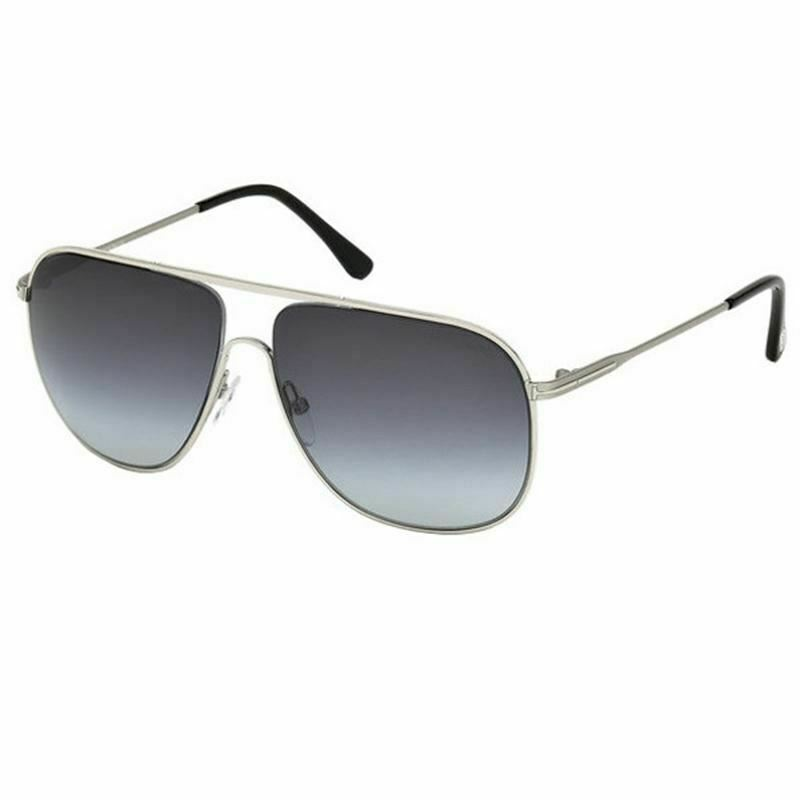 35ed6a6681824 Tom Ford Dominic Sunglasses Silver w Blue Lens Men FT0451 16W – The ...