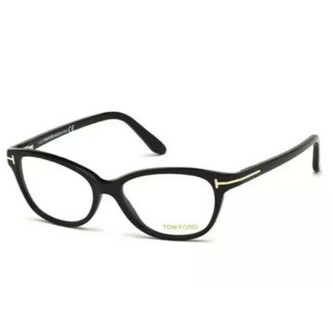 Tom Ford Women's Eyeglasses Shiny Black W/Demo Lens FT5299