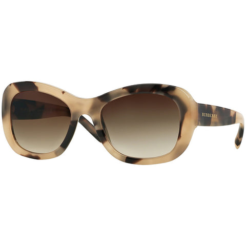 Burberry Women's Oval Sunglasses W/Brown Gradient Lens BE4189 350113