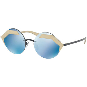 New Authentic Bvlgari Women's Sunglasses W/Blue Lens BV6089-202255-55