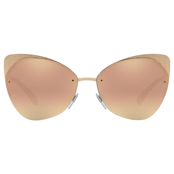 Bvlgari Cat Eye Sunglasses Women's Mirror Lens - Front View