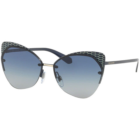 Bvlgari Women's Sunglasses W/Grey Blue Gradient Lens BV6096-20204L-58