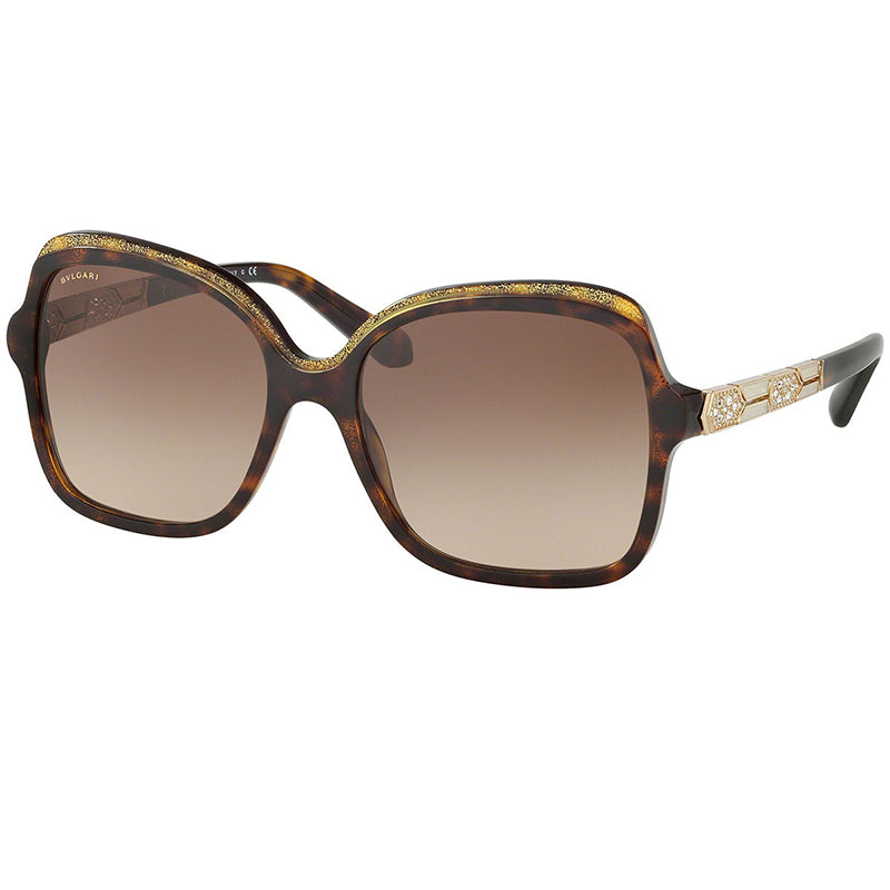33f89dc9661 Bvlgari Sunglasses Serpenti Havana Glitter Gold w Brown Gradient Lens Women  BV8181B 535313