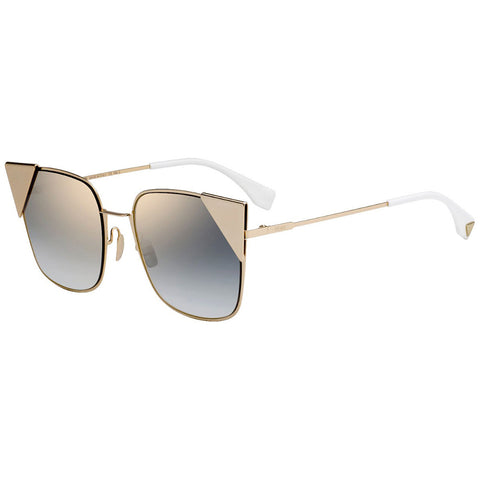 Fendi Sunglasses Rose / Gold w/Grey Lens Women FF0191/S 000