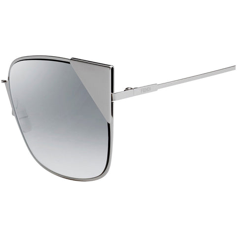 Fendi Sunglasses Palladium w/Grey Lens Women FF0191/S 010