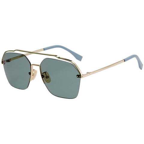 Fendi Sunglasses Gold w/Green Lens Men's FFM0032/S J5G