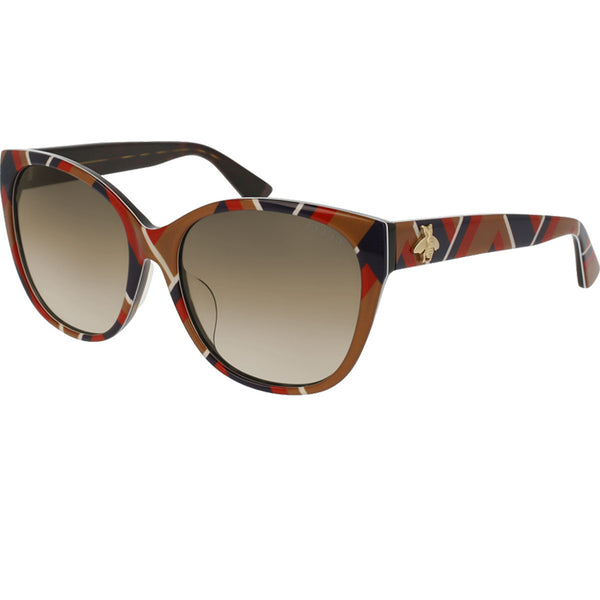 Gucci Women's Square Sunglasses Brown Lens - Full View