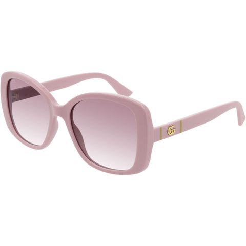 Gucci Oversize Women's Sunglasses Pink W/Purple Gradient Lens GG0762S 004