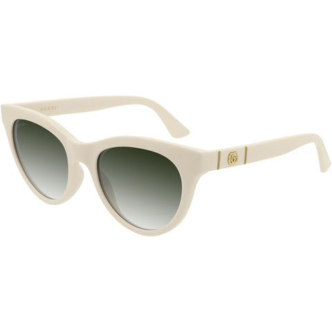 Gucci Women's Sunglasses Ivory w/Green Gradient Lens GG0763S 004