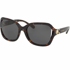 Coach Sunglasses Dark Tortoise w/Grey Lens Women