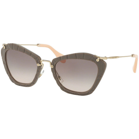 Miu Miu Women's Sunglasses W/Pink Gradient Grey Lens MU10NS-USY4K0-55