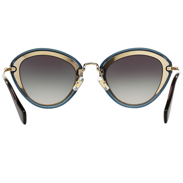 MiuMiu Women Sunglasses Black/Grey w/Grey Lens  MU51RS-1AB5D1-52